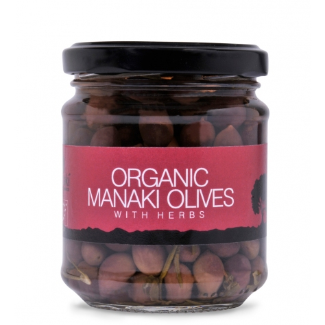 "Organic ""Manaki"" olives with herbs 200gr"