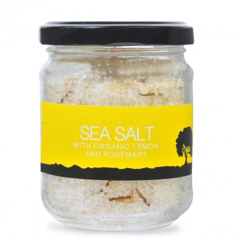 Meraki sea salt with organic lemon & rosemary 220gr