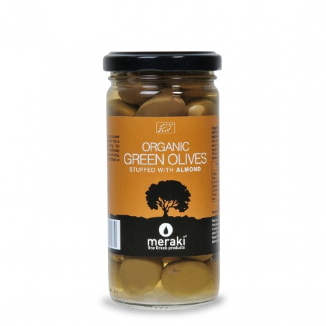 Organic Green Olives stuffed with Almond