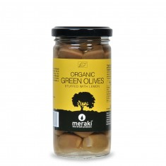 Organic Green Olives stuffed with Lemon