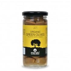 Βιολογικές πράσινες γεμιστές ελιές με λεμόνι
