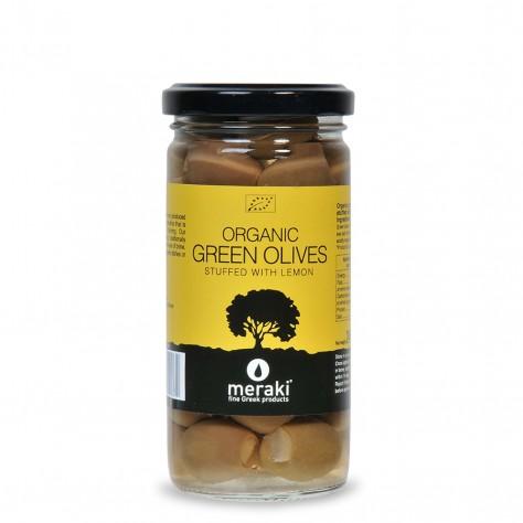 Organic Green Olives stuffed with Lemon